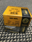 Sellier & Bellot .308 147grn FMJ ammunition x 50 rounds